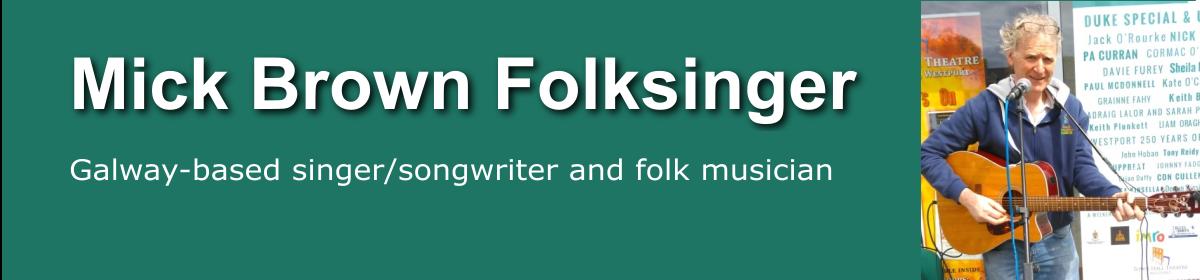 Mick Brown folksinger